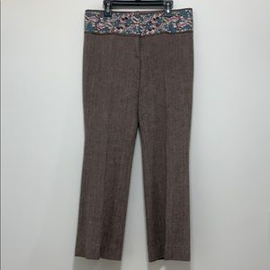 Marciano Embroidered Tweed Pants